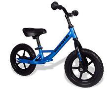 Scooch Kids Blue Black Boys Training Running Balance Bike with Metal Foot Rest