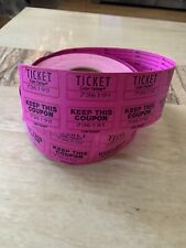 Coin-Tainer Numbered Double Ticket Color Pink