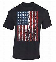 American Flag Distressed T-SHIRT 4th Of July USA Patriotic Star Stripes Shirt