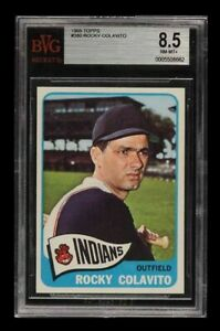 1965 Topps ROCKY COLAVITO #380 BVG 8.5 NM-MINT+ HIGHEST GRADED Cleveland Indians