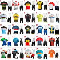 2019 Mens Team Cycling Jersey & Short Pant Sets Cycling Short Sleeve Jerseys
