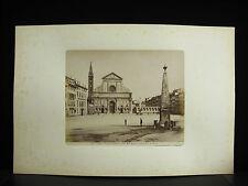 Fotografia Albumen Basilica Santa Maria Novella Firenze c1880 Photography