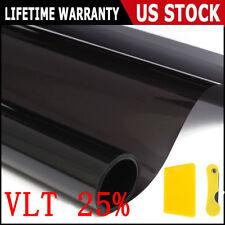 Black 25% Car Auto Window Tint Film Roll House Glass Cover Tinting 50cmx3m US