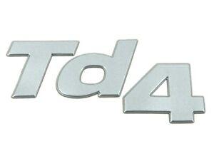 Genuine New LAND ROVER TD4 REAR DOOR GEL BADGE Fender Emblem Freelander 1998-06