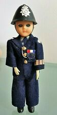 VTG MINIATURE DOLL BLINKING EYES TOY BOBBY POLICE CLOTH EXCELLENT COND RARE FIND