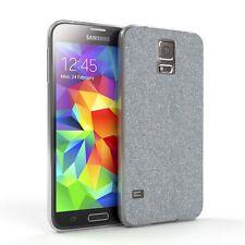 Schutz Hülle für Samsung Galaxy S5 / Neo Glitzer Cover Handy Case Silber