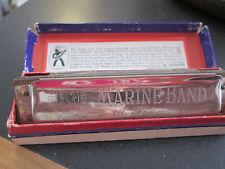 Vintage Germany M. Hohner Marine Band Harmonica No.1896 Key of G With Box