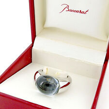 Baccarat ring Silver clear Woman unisex Authentic Used T1842