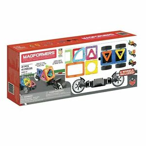 Magformers Magnetic Building Set of 41 Pieces with Wheels