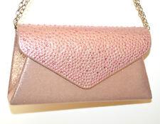 BOLSO Mini pochette ROSA cristales mujer elegante bolsa strass clutch bag G69