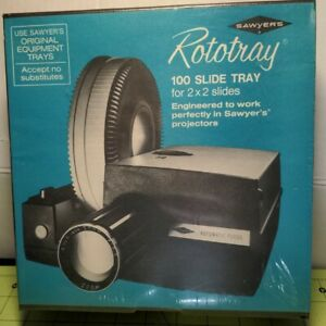 Sawyer's Rototray 100 Slide Tray for 2X2 Slides & Sawyer's Projectors