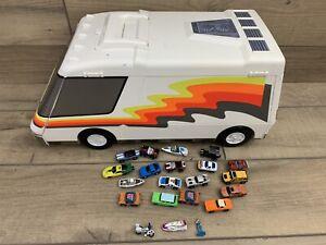 Mini Micro Machines Lot Of 20 Cars / Boats + Galoob 1991 Super City Van Camper.