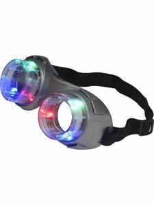 Alien Goggles Light Up Fancy Dress Accessory Jurassic Glasses Head Mad Scientist