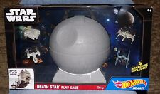 HOT WHEELS STAR WARS DEATH STAR PLAY VASE WITH 4 STARSHIPS DIE-CAST