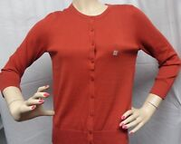 """ANN TAYLOR LOFT"" RED ROSEWOOD 3/4 SLEEVE CARDIGAN SWEATER SIZE: M NWT $45"