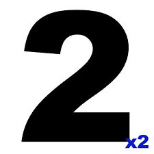 2 x MSA Specification Race Car Number 2 - For Door Square Panels - 230mm