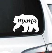 H164 Mama Bear Family Wildlife Bears Outdoors Big Bear White Decal Car Truck