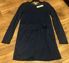 New GB Gianni Bini Juniors Navy Dress Long Sleeves Tie Front Size Small S