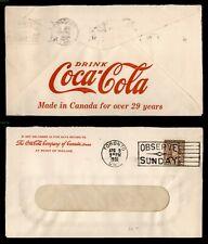 DR WHO 1936 CANADA TORONTO ADVERTISING COCA COLA CO  f30020