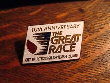The Great Race Lapel Pin - Vintage 1986 Pittsburgh PA Pennsylvania USA Runner