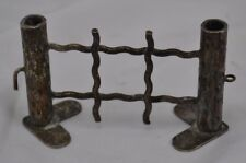 Vintage Silver HallMark Plate? Knife Rest Interlocking Fence