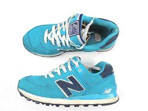"New Balance ""WL574POA"" Womens 10 M Aqua Blue Classic 574 Lace Up Sneakers"