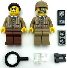 LEGO 2 NEW DETECTIVE MINIFIGURES PRIVATE INVESTIGATORS P.I. MEN W/ ACCESSORIES
