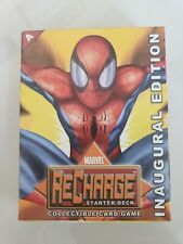 MARVEL RECHARGE STARTER DECK COLLECTIBLE CARD GAME INAUGURAL EDITION 2001 NEW!