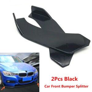 1 Pair Car Front Deflector Spoiler Splitter Diffuser Bumper Canard Lip Universal