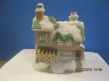 Vintage Estate Porcelain Tannery house  Christmas Decorations