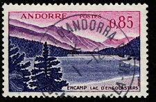 1961 French Andorra Sc #152 Lac d'Engolasters definitive CDS Used; SCV $18.50
