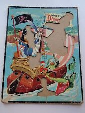 Vintage Walt Disney Frame Tray Puzzle Adventureland Donald Duck Pirates Gators