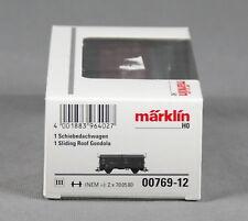 Märklin 00769-12 [pista h0 ~] schiebedachwagen tes-t-58 kmmgks mercancía nueva
