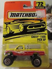 Matchbox Chevy 1500 Pick Up #72 Yellow