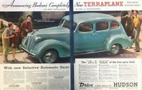1937 Hudson Terraplane Vintage Advertisement Print Art Car Ad Poster LG78