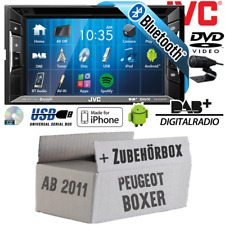 JVC Auto Radio für Peugeot Boxer 2 ab 2011 DVD BT DAB+ CD MP3 USB Android iPhone