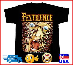 Pestilence Consuming Impulse new black T-SHIRT Size M-4XL