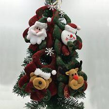 4PCS Christmas Tree Hanging Decoration Snowman Santa Claus Ornaments Xmas