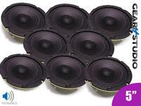 "8x HI-FI Replacement Speaker Cone Midrange Frequency 5"" 125mm 40W 8 Ohm Speaker"