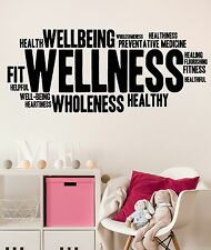 Wall Sticker Vinyl Wellness Healthy Lifestyle Fitness Woman Decal (ig4304)