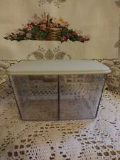 Longaberger Tea Basket Hard Divided Protector And Lid (New)