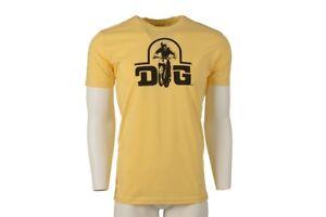 DG MX T Shirt, DG Performance Logo,Yellow ,Size: 2XL, Authentic, Vintage MX