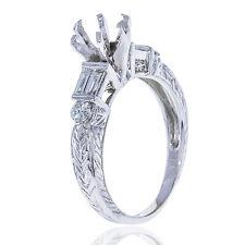 18k White Gold Diamond Engagement Ring Setting Semi Mount  0.50ct TDW  Size 7