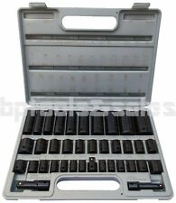 "38PC 3/8"" & 1/2"" DUO COMBO IMPACT SOCKET SET DEEP & SHALLOW METRIC/SAE FLANK DR."