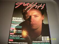Graffiti 1985 Magazine Bryan Adams Vol 1 No 3
