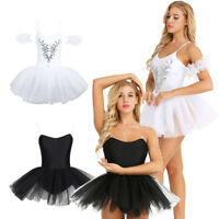 Women Pro Ballet Dance Short Dress Ballerina Swan Lake Costume Adult Tutu Skirt