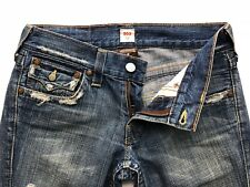 True Religion 803 Men Destroyed Blue  Jeans  Size Row 30 Seat 31