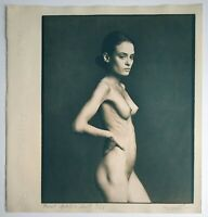 Artnude photograph by Pavel Apletin cyanotype print signed handmade artwork