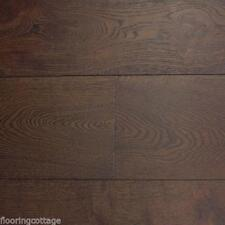 Engineered Oak Flooring 18mm x 4mm x190mm Brushed Coffee Lacquered Oak