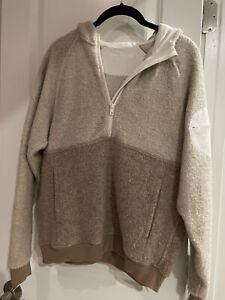 Outdoor Voices NEW Oatmeal Wool Outdoor Hoodie With Circle Pocket XS